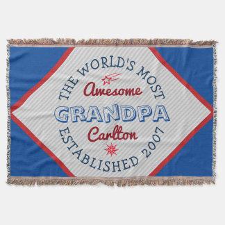 あなた自身の世界の最も素晴らしい祖父のロゴを作成して下さい スローブランケット