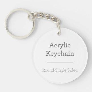 あなた自身の円形のKeychainを作って下さい キーホルダー