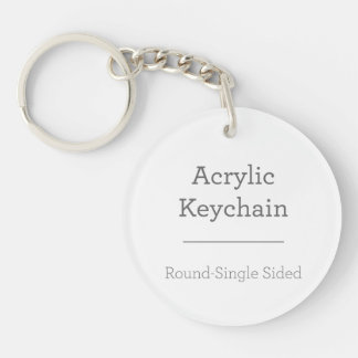 あなた自身の円形のKeychainを作って下さい 丸型(片面)アクリル製キーホルダー