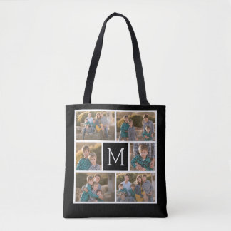 あなた自身の写真のコラージュ- 6つの写真のモノグラム--を作成して下さい トートバッグ