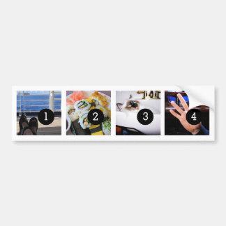 あなた自身の写真のバンパー4のイメージを生成して下さい! バンパーステッカー