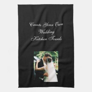 あなた自身の写真の結婚式の台所タオルを設計して下さい キッチンタオル