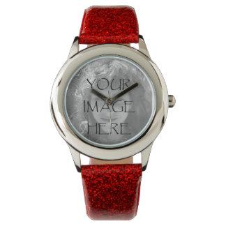 あなた自身の写真の腕時計を設計して下さい 腕時計