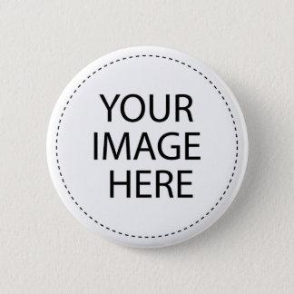 あなた自身の写真/デザインボタンを作って下さい 5.7CM 丸型バッジ