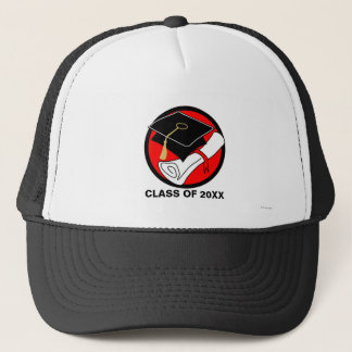 あなた自身の卒業の帽子の免状の帽子の赤を作成して下さい キャップ