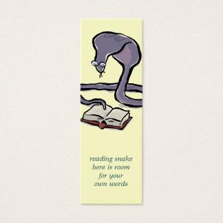 あなた自身の単語の読書コブラのしおりを予約して下さい スキニー名刺