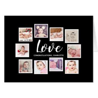 あなた自身の名前入りな愛写真のコラージュを作って下さい カード