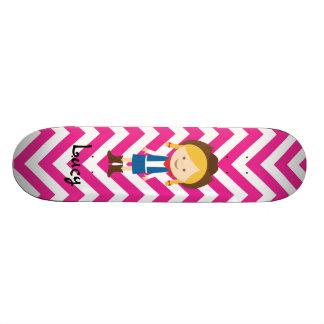 あなた自身の女性のカーボーイのスケートボードを作成して下さい スケートボード