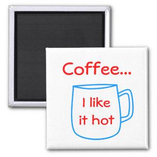 あなた自身の文字のための青いコーヒーカップ マグネット