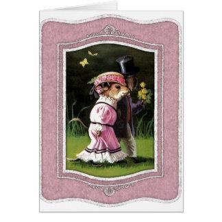 あなた自身の文字を加えて下さい: ロマンチックなネズミ カード