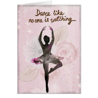 あなた自身の文字を加えて下さい: 踊りのバレリーナ カード