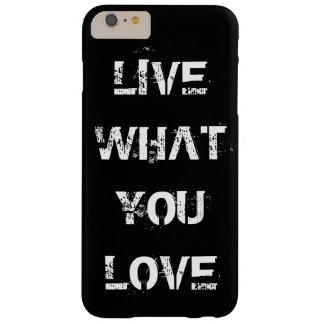 あなた自身の文字、イメージ及び背景色を選んで下さい BARELY THERE iPhone 6 PLUS ケース