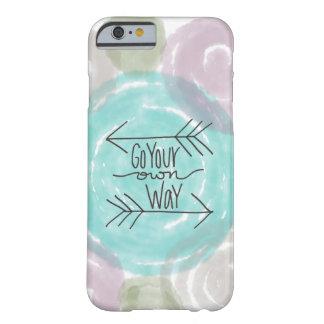あなた自身の方法-絞り染めのパステル調のiPhoneカバー--は行きます Barely There iPhone 6 ケース
