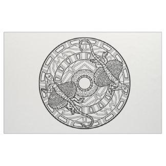 あなた自身の曼荼羅の生地のトンボを刺繍して下さい ファブリック