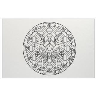 あなた自身の曼荼羅の生地の鷲を刺繍して下さい ファブリック