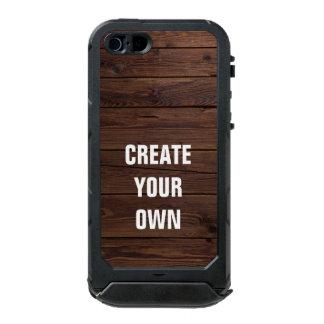あなた自身の木の床の一見を作成して下さい ウォータープルーフiPhone SE/5/5sケース