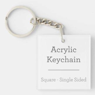 あなた自身の正方形のKeychainを作って下さい 正方形(片面)アクリル製キーホルダー