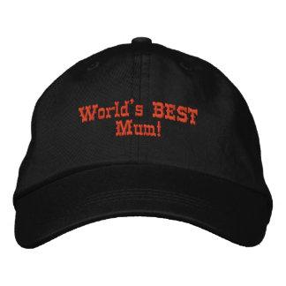 あなた自身の母の日の刺繍された帽子/帽子を作成して下さい! ベースボールキャップ