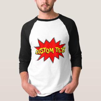 あなた自身の漫画本の音響効果の泡を作成して下さい Tシャツ