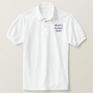 あなた自身の父の日のポロのゴルフワイシャツを作成して下さい! 刺繍入りシャツ