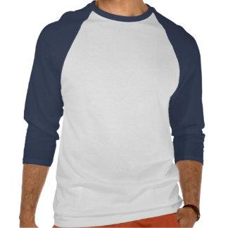 あなた自身の白およびロイヤルブルーを設計して下さい T シャツ