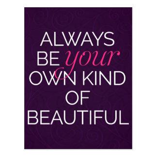 あなた自身の種類の美しい引用文 ポストカード