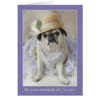 あなた自身の種類の美しい母の日のパグカード カード