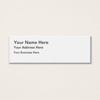 あなた自身の細い名刺を作成して下さい スキニー名刺