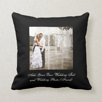 あなた自身の結婚式の写真の記念品の枕を作成して下さい クッション