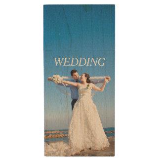 あなた自身の結婚式の写真 ウッドUSBフラッシュドライブ