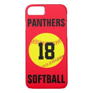 あなた自身の色のカスタムなソフトボールの電話箱を選んで下さい iPhone 8/7ケース