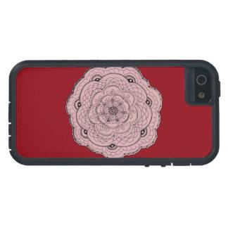 あなた自身の色のレースのかぎ針編みの花を選んで下さい iPhone SE/5/5s ケース