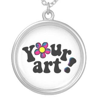 あなた自身の記念品か想い出の品を作成して下さい シルバープレートネックレス