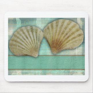 あなた自身の貝殻のデザインをカスタマイズ マウスパッド