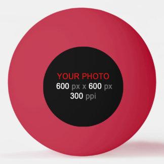 あなた自身の赤いピンポン球を作成して下さい 卓球ボール