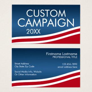 あなた自身の選挙のデザインを作成して下さい 名刺