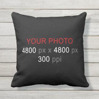 あなた自身の2つの写真のカスタムを16インチ作成して下さい アウトドアクッション
