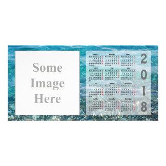 あなた自身の2018のカレンダーの写真カードを作成して下さい カード
