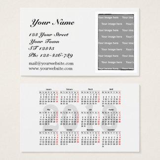 あなた自身の2018のカレンダーの名刺を作成して下さい 名刺