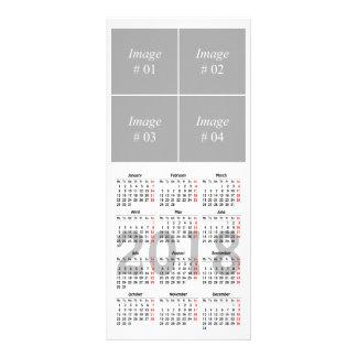 あなた自身の2018のカレンダーの棚カードを作成して下さい ラックカード
