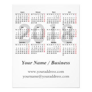 あなた自身の2018カレンダーを作成して下さい チラシ