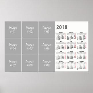 あなた自身の2018カレンダーを作成して下さい ポスター