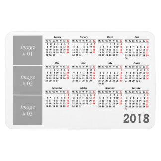 あなた自身の2018カレンダーを作成して下さい マグネット