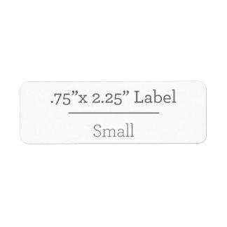 あなた自身の8.5 x 11ラベルを設計して下さい 返信用宛名ラベル