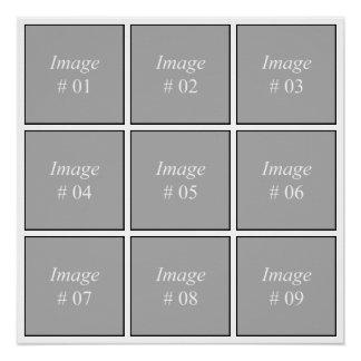 あなた自身のInstagramの写真のコレクションを作成して下さい ポスター