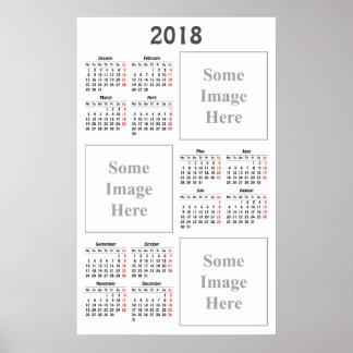あなた自身のinstagram 2018のカレンダーを作成して下さい ポスター
