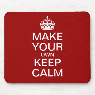 あなた自身のKeep Calm and Carry Onのマウスパッドを作って下さい マウスパッド