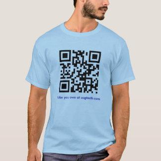 あなた自身のQRコードワイシャツを作って下さい Tシャツ