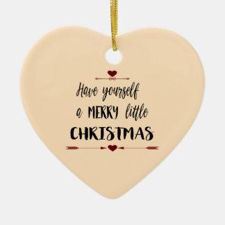 あなた自身をメリーで小さいクリスマス持って下さい セラミックオーナメント