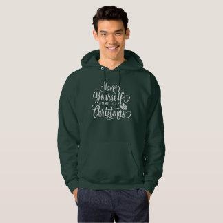 あなた自身をメリーで小さいクリスマス|のフード付きスウェットシャツ持って下さい パーカ